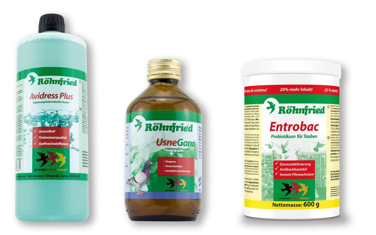 Avidress Plus, UsneGano and Entrobac