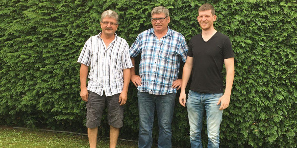 Johann Wolf (li), Josef Fuchs (mitte) und Oliver Fuchs (re)