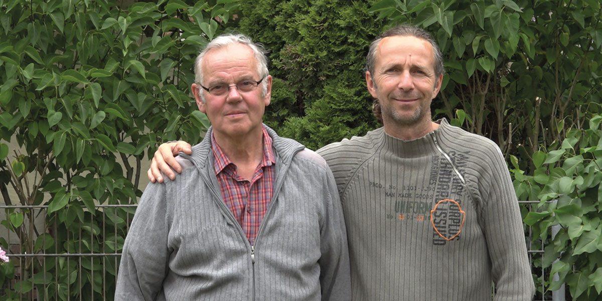 Günter Krouss (li) und Stephan Grotzsch (re) reisen seit vielen Jahren gemeinsam